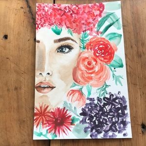 Girl with flowers wall art